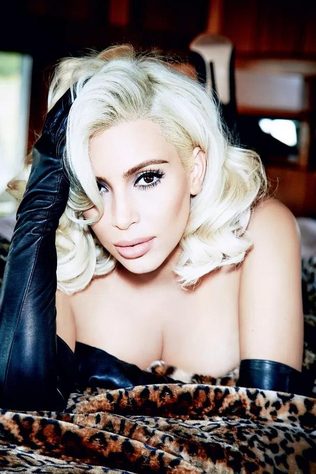 Kim Kardashian estampa edição da Vogue Brasil de junho