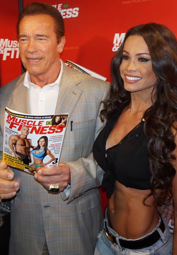 Fernanda D'Ávila ganha elogios de Arnold Schwarzenegger