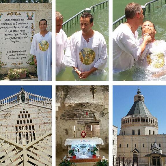 Membros do Backstreet Boys são batizados em Israel