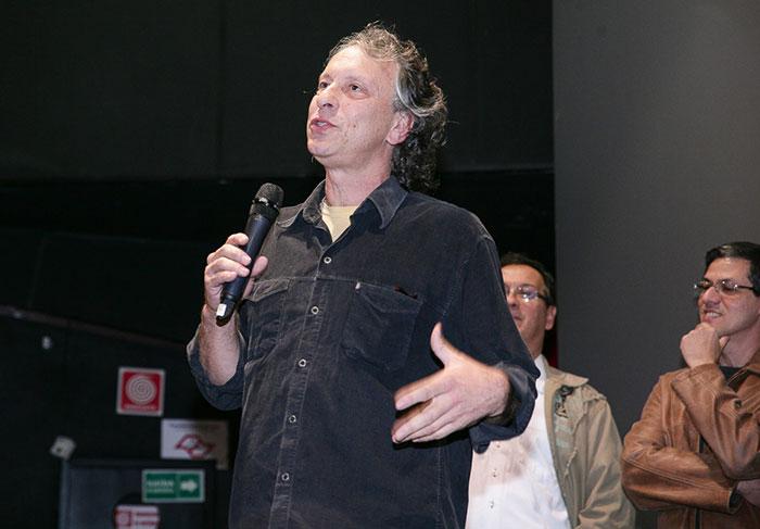 O diretor Lírio Ferreira, na pré estréia de Sangue Azul