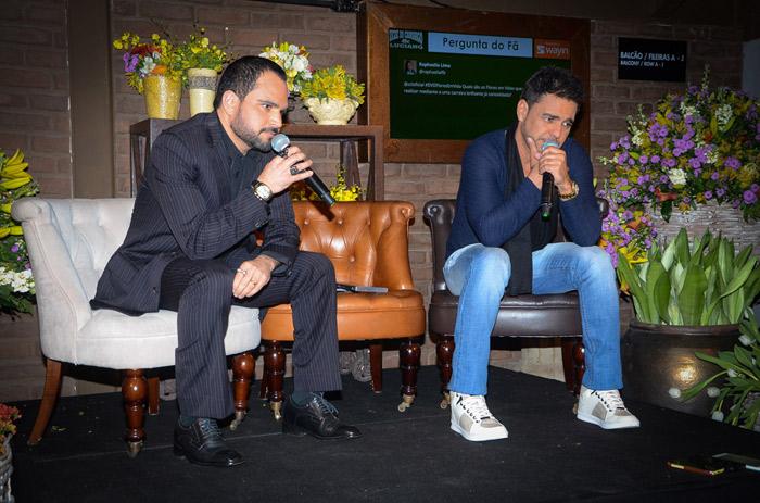 Zezé Di Camargo e Luciano esbanjam elegância em lançamento
