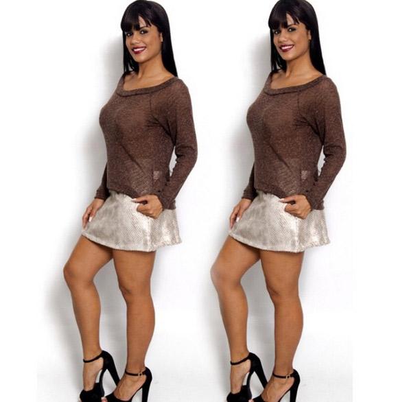 Theila Sabrina, bailarina do Faro, posa em novo editorial