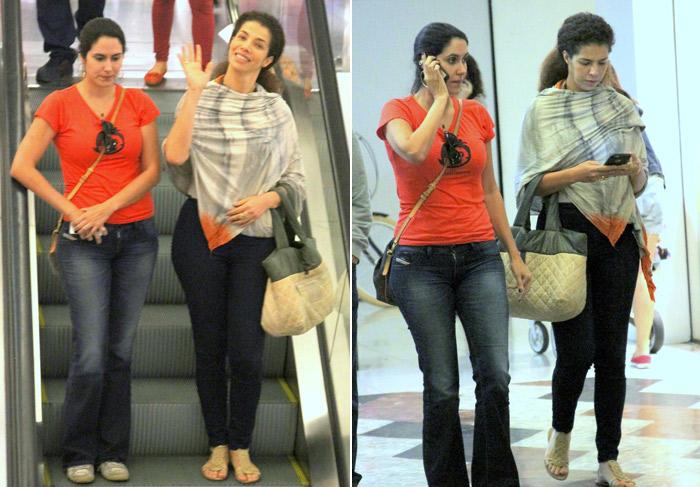 Vanessa da Mata capricha no look para passeio em shopping