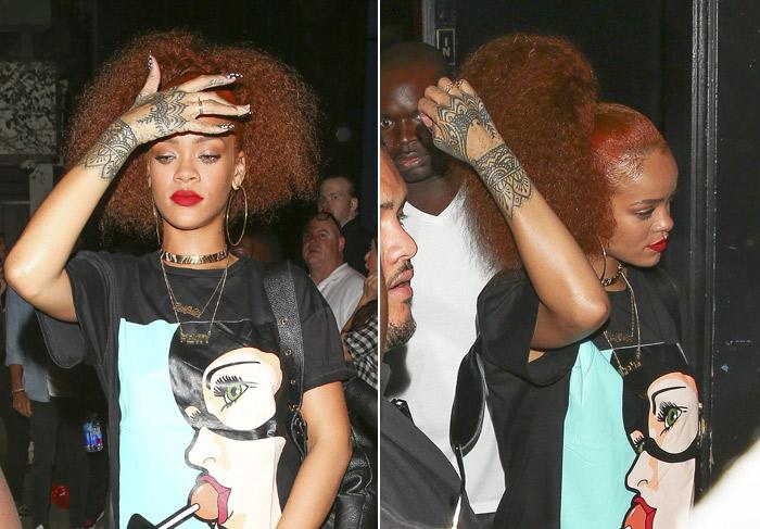 Rihanna adota novo estilo de cabelo