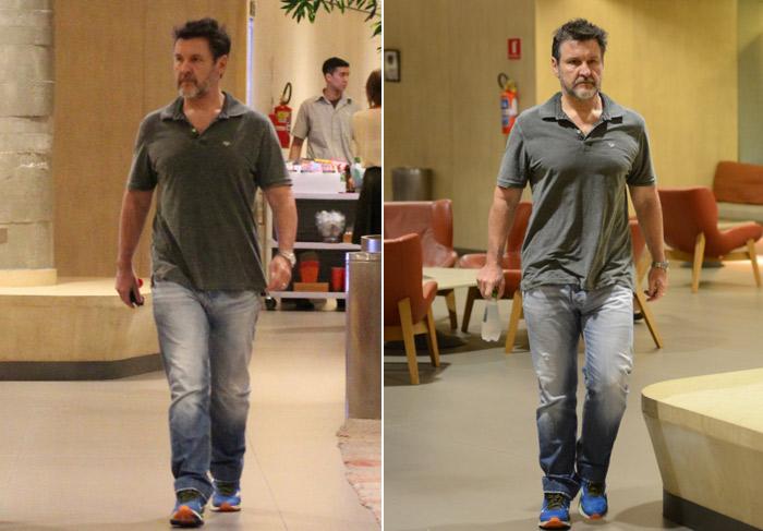 Sozinho, Antonio Calloni vai ao cinema em shopping do Rio