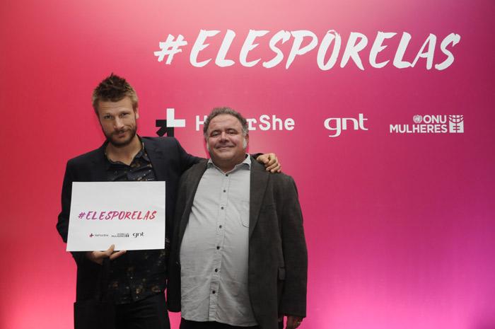 Rodrigo Hilbert e Léo Jaime abraçam campanha da ONU Mulheres
