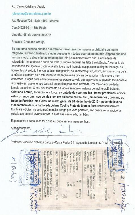 Vidente teria previsto o acidente de Cristiano Araújo
