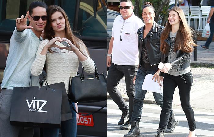 Camila Queiróz posa para foto durante gravação na Barra