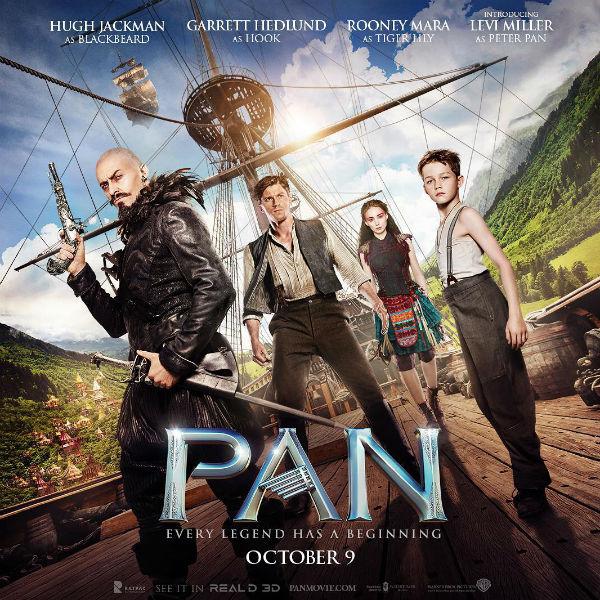 Hugh Jackman apresenta novo pôster do novo filme de Pan