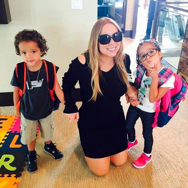 Filhos de Mariah Carey vão para a escola pela primeira vez