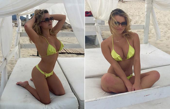 Thaiz Schmitt esbanja boa forma antes de fotos em Ibiza