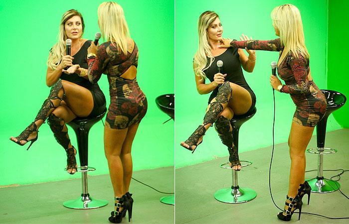 Barraco! Misses Bumbum se desentendem em programa de TV
