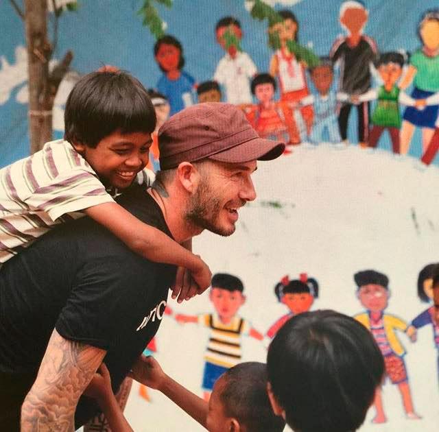 David Beckham mostra seu apoio à UNICEF