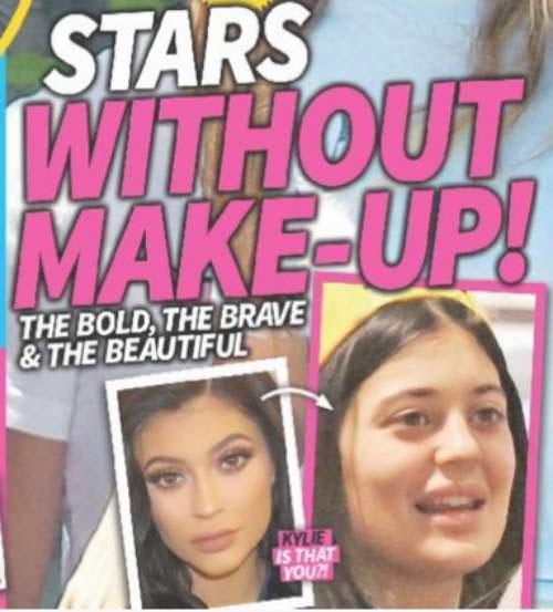 Kylie Jenner se estressa com foto em revista, sem maquiagem