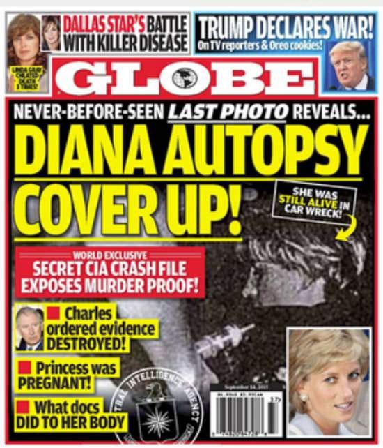 Princesa Diana foi morta porque estava grávida, diz tabloide