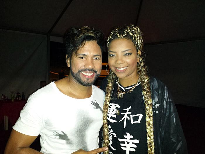 João Lucas, da dupla com Marcelo, tieta Ludmilla após show