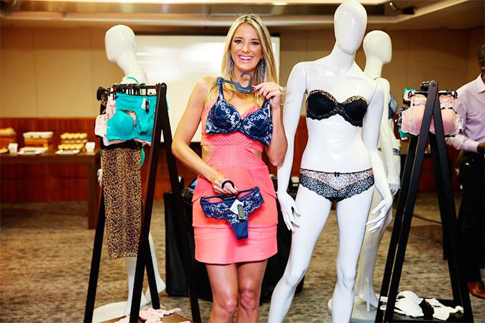 Ticiane Pinheiro lança coleção de lingerie em SP
