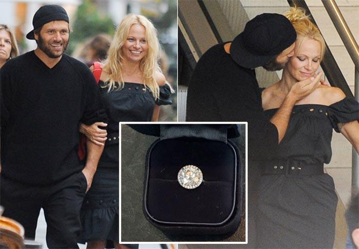 Pamela Anderson está leiloando o seu anel de noivado