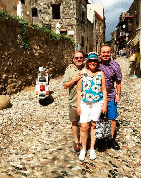 Gugu Liberato curte férias na Grécia