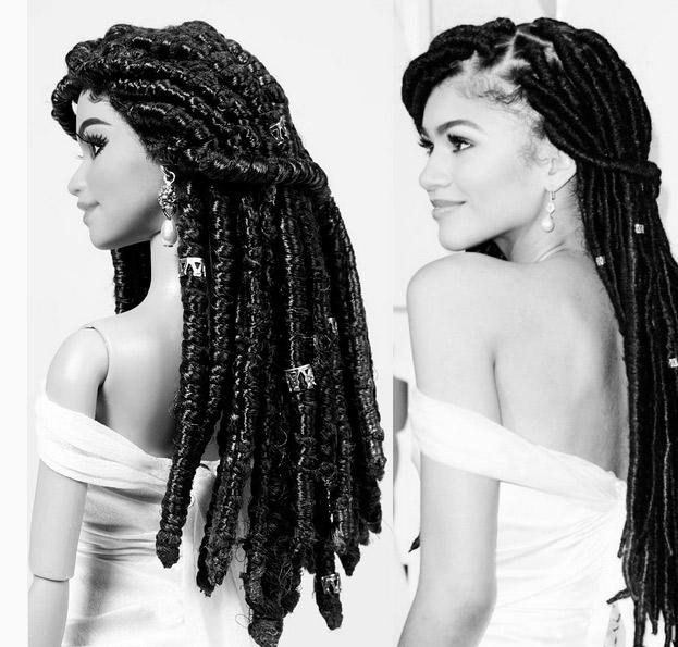 Depois de polêmica, Zendaya ganha versão Barbie com dreads