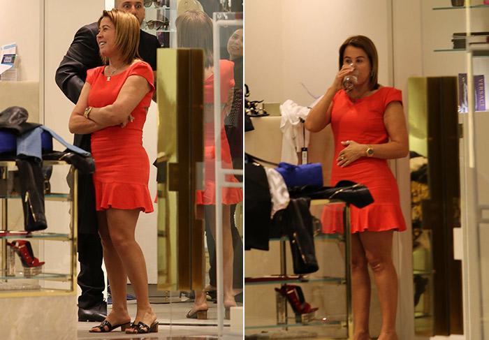 Zilu Godoi aposta em vestidinho para fazer compras no Rio