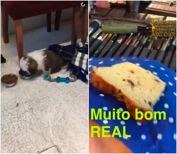 Bruna Marquezine leva novo cachorrinho para sessão de fotos