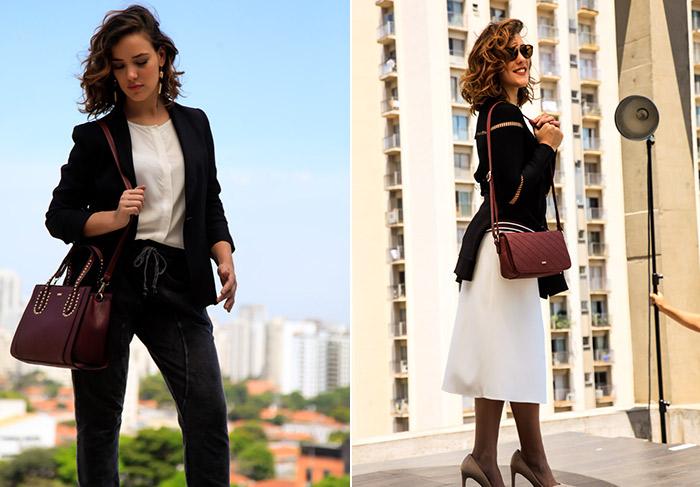 Adriana Birolli estrela campanha de bolsas