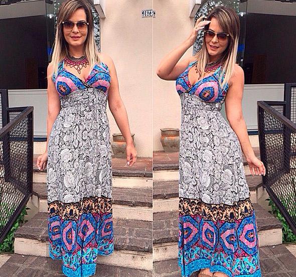 Geisy Arruda aposta do vestido longo e recebe elogios