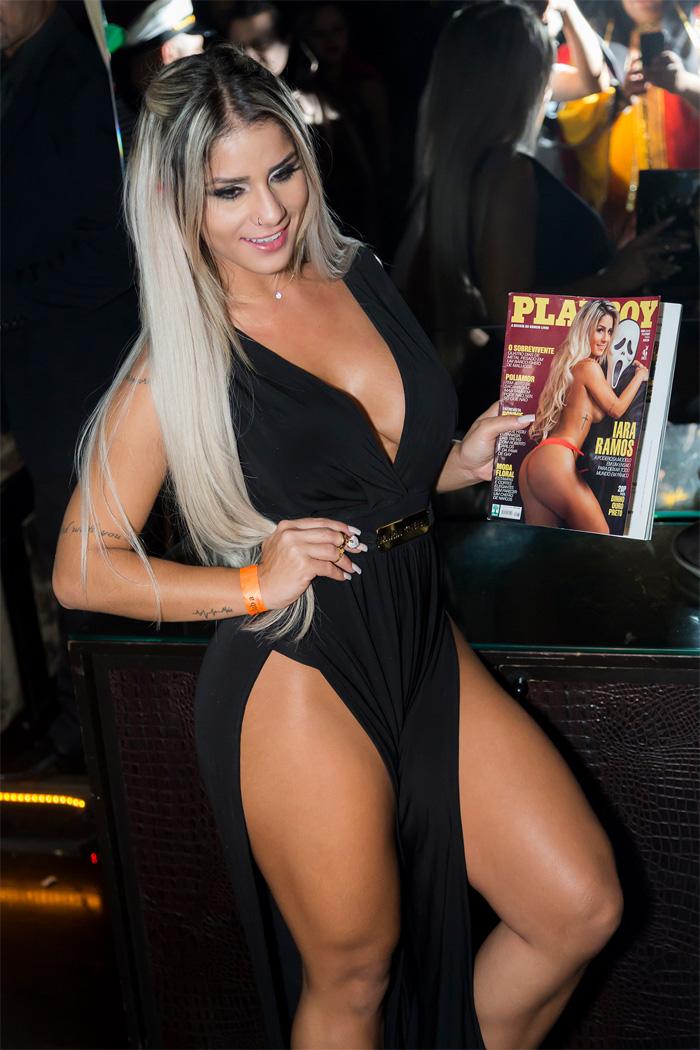 Com superdecote, panicat Iara Ramos lança Playboy