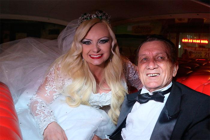 Mulher Pera se casa com Jamil Cury em São Paulo
