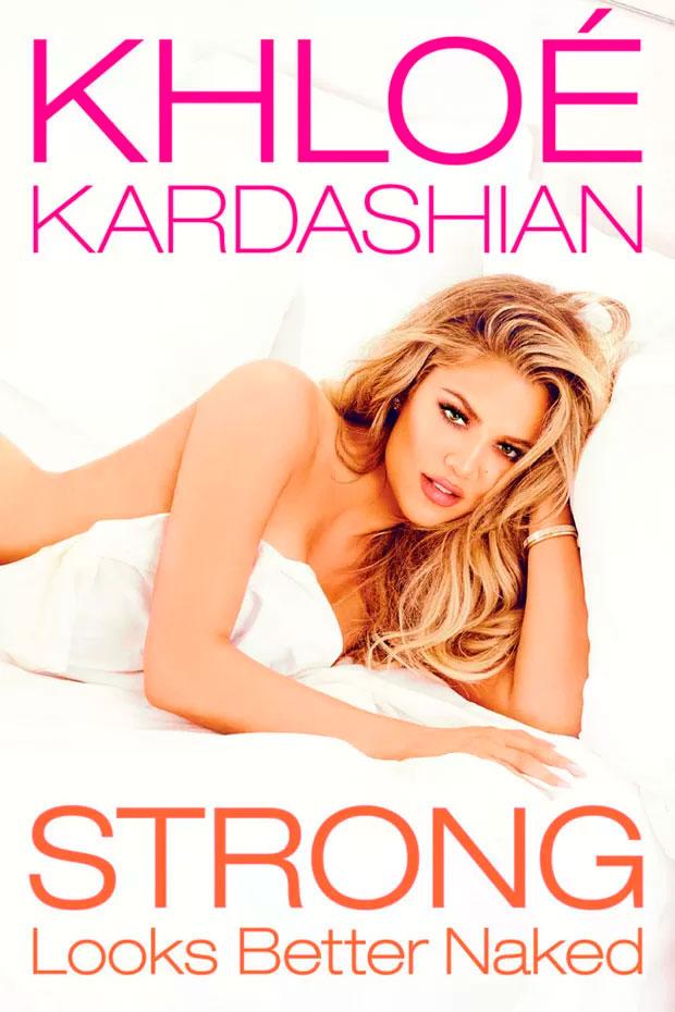 Khloé Kardashian posa só de lençol para sua biografia