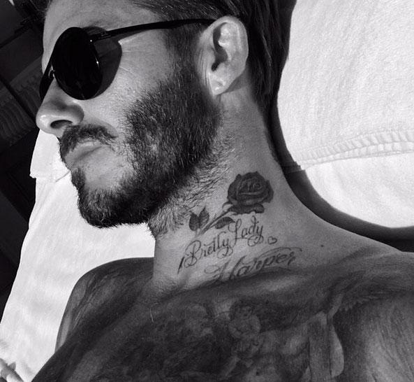 David Beckham faz nova tatoo