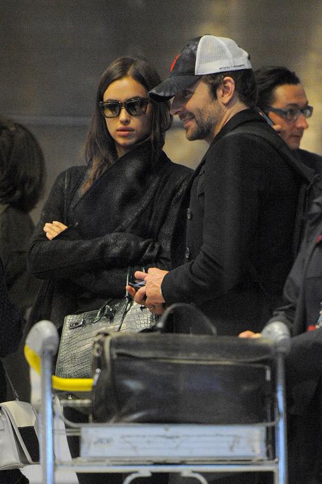 Bradley Cooper viaja com Irina Shayk para Paris