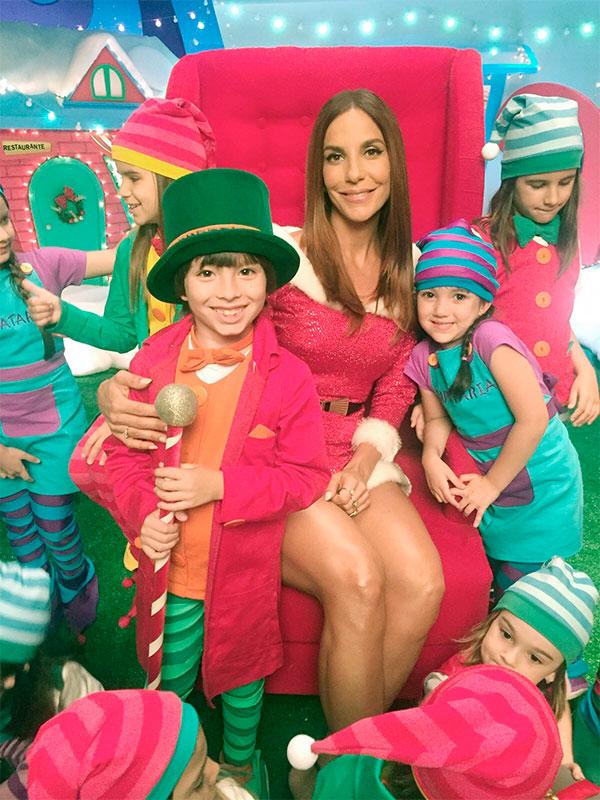 Natal! Ivete Sangalo grava campanha com crianças