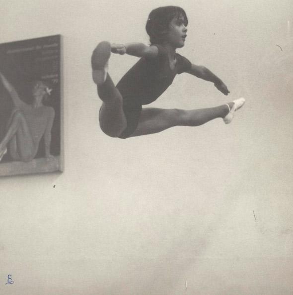 Salma Hayek seria uma ótima ginasta!
