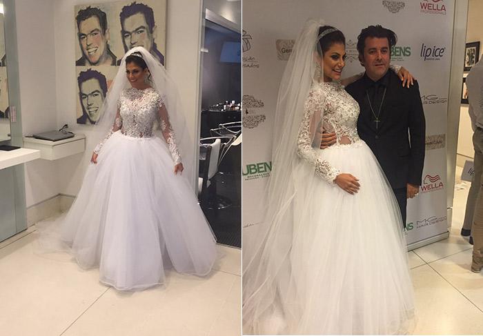 Vai casar? Mari Gonzalez se veste de noiva