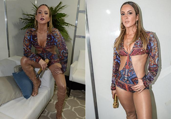 Claudia Leitte usa look de tirar o fôlego, em show no Ceará