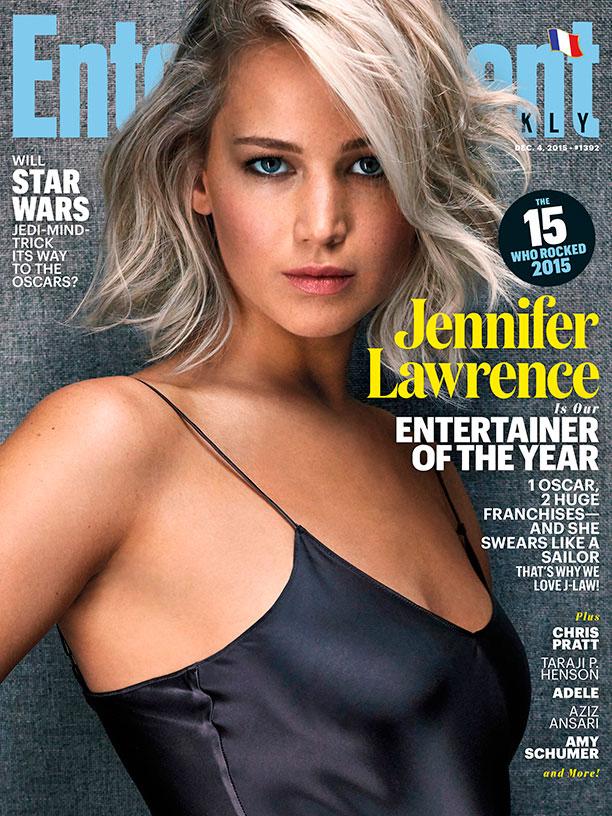 Jennifer Lawrence é eleita artista de entretenimento do ano,