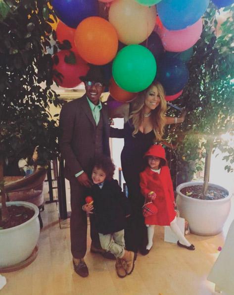 Mariah Carey e o ex-marido passam Ação de Graças juntos