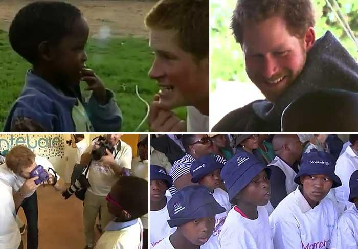 Príncipe Harry inaugura centro infantil na África