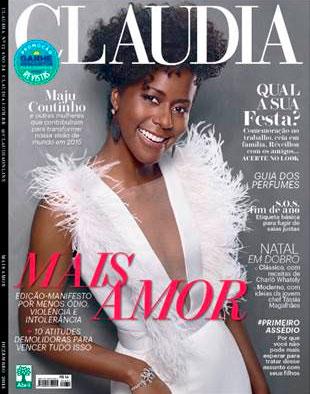 Deslumbrante! Maju Coutinho é capa da revista Cláudia