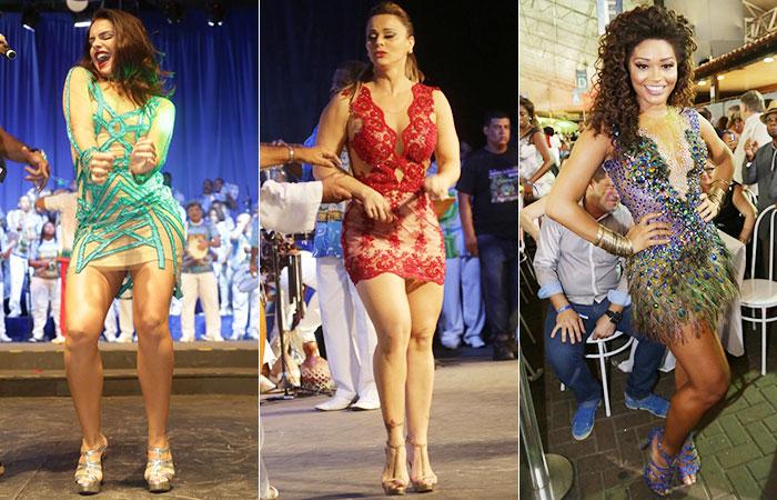 Paloma Bernardi exibe corpão em roda de samba carioca