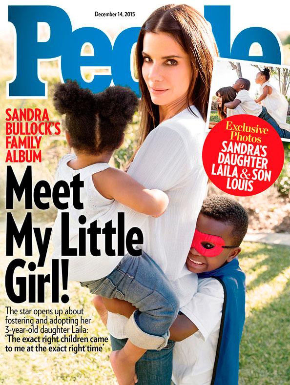 Sandra Bullock adotou uma menina