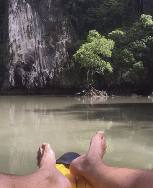 Reynaldo Gianecchini curte ilha paradisíaca na Tailândia