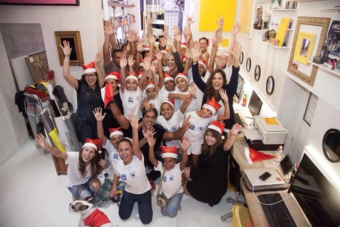 Natállia Rodrigues e Bruno Gissoni participam de ação do bem
