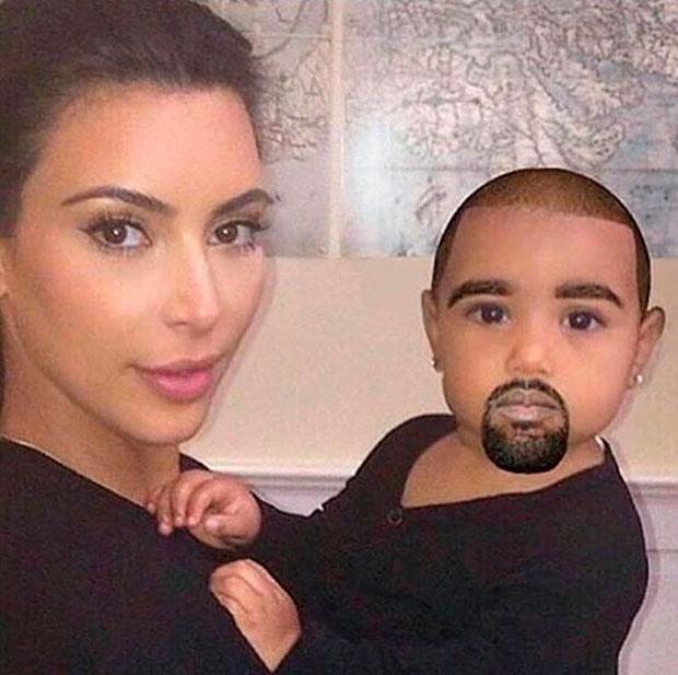 Kim Kardashian e Kanye West viram memes divertidos. Entenda!