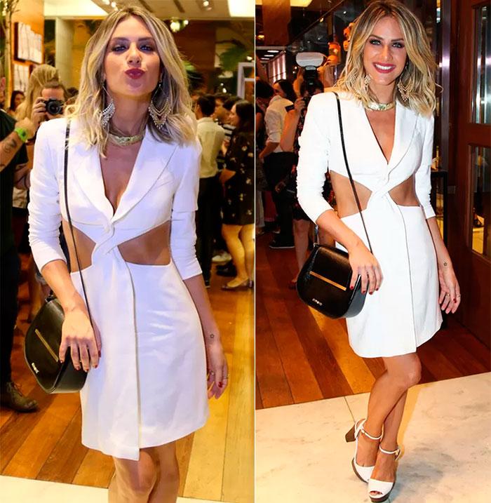 O vestido branco sensual da Giovanna Ewbank foi feito por sua mãe.