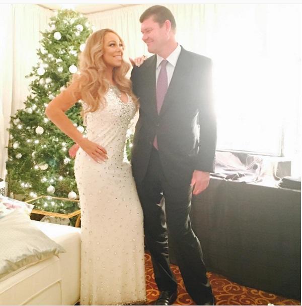 Mariah Carey posta foto com namorado