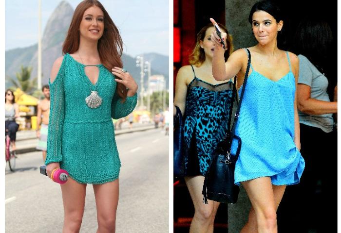 Marina Ruy Barbosa e Marquezine apostam em looks azuis