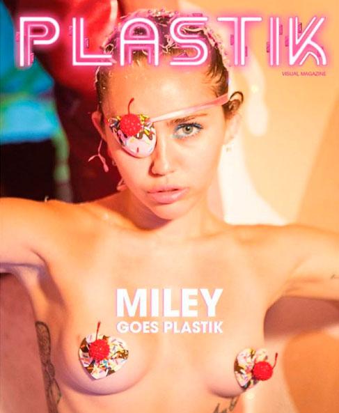 Miley Cyrus posa de topless em capa de revista
